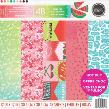 Craft Smith Melon Patch 12x12 Inch Paper Pad