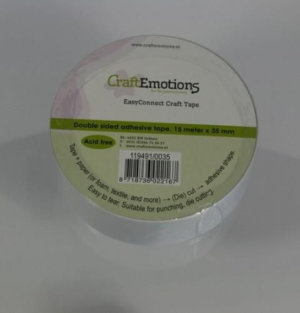 CraftEmotions EasyConnect doppelseitig klebendes Band 15m x 35mm