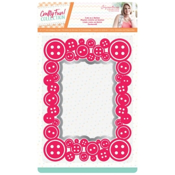 Sara Signature Crafty Fun Cut & Emboss Folder - Cute as a Button, Crafters Companion