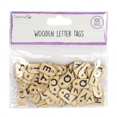 Dovecraft Wooden Letter Tags