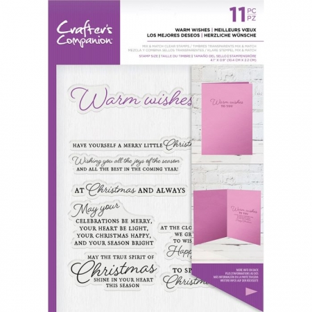 Crafter's Companion Sentiment & Verses Clear Stamps - Warm Wishes