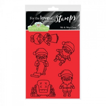 Hunkydory, Happy Town Stamp Set - Mr & Mrs Claus