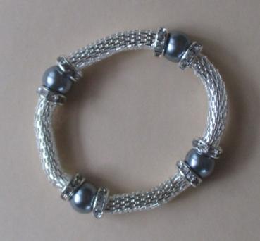 Silber armband elastisch