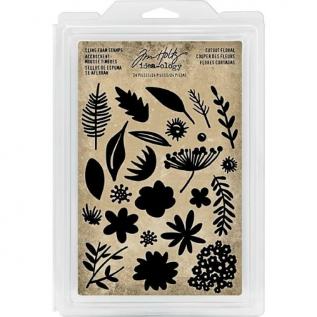 Idea-ology Tim Holtz Cling Foam Stamps Cutout Floral