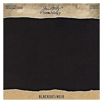 Idea-ology Tim Holtz Kraft-Stock 8x8 Inch Paper Stash Blackout