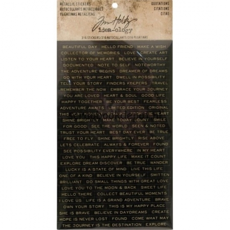 Idea-ology Tim Holtz Metallic Stickers Quotations