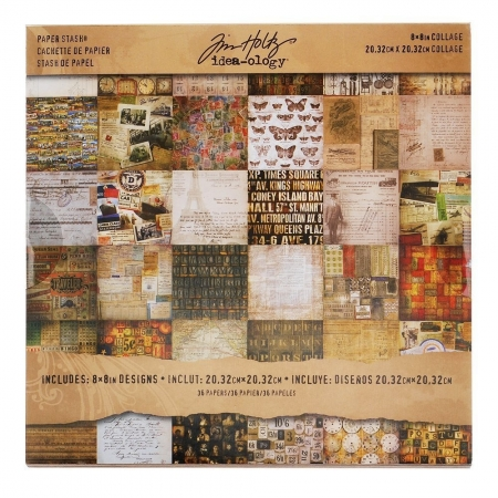 Idea-ology Tim Holtz Mini Stash 8x8 Inch Collage Sheets