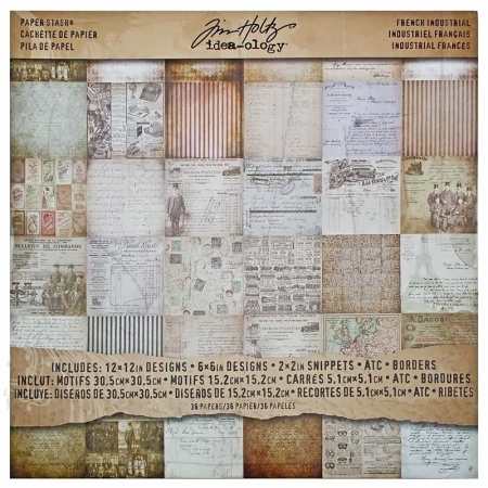 Idea-ology Tim Holtz Paper Stash French Industrial Paper Sheets