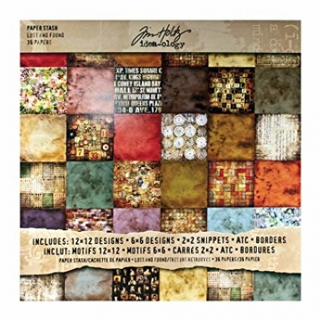 Idea-ology Tim Holtz Paper Stash Lost And Found Paper Sheets