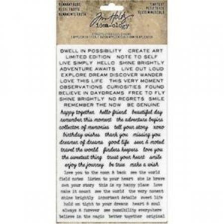 Idea-ology Tim Holtz Remnant Rubs Tiny Text