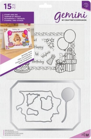 Gemini Photo Frame Stamp and Die - Birthday Party, Crafters Companion