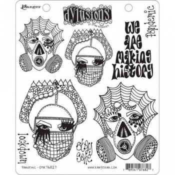 Ranger Dylusions Cling Stamp Set Pandemic  / Lockdown