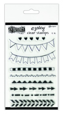 Ranger Dylusions Dyalog Clear Stamp Set On the Edge Dyan Reaveley