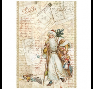Decoupage Rice Paper - Santa Claus Stamperia