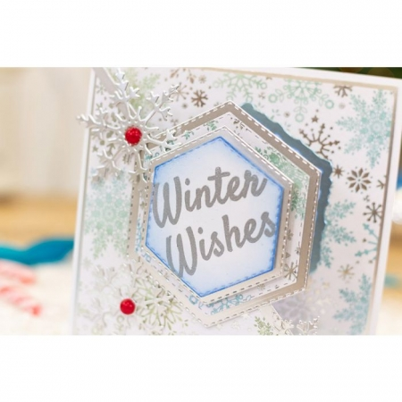 Crafter's Companion Sentiment & Verses Clear Stamps - Winter Wishes