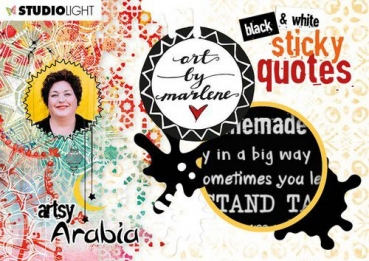 Studiolight,  Art By Marlene Sticker Pad Quotes Artsy Arabia, nr.03
