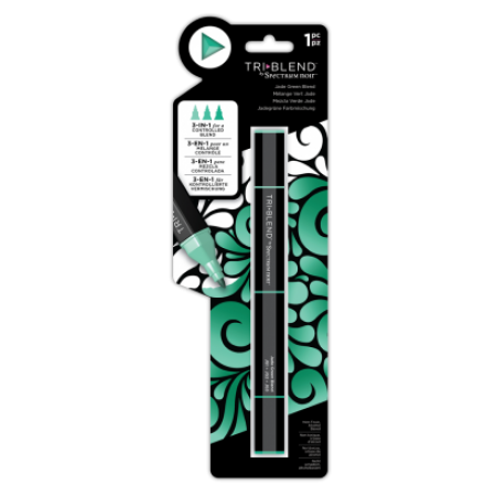 Spectrum Noir TriBlend Markers - Jade Green Blend, Crafters Companion