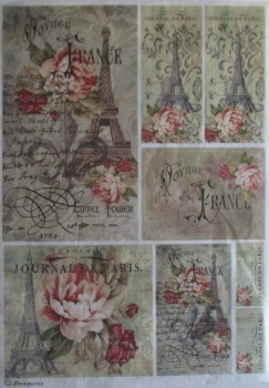 Decoupage Rice Paper - Voyage en France Stamperia