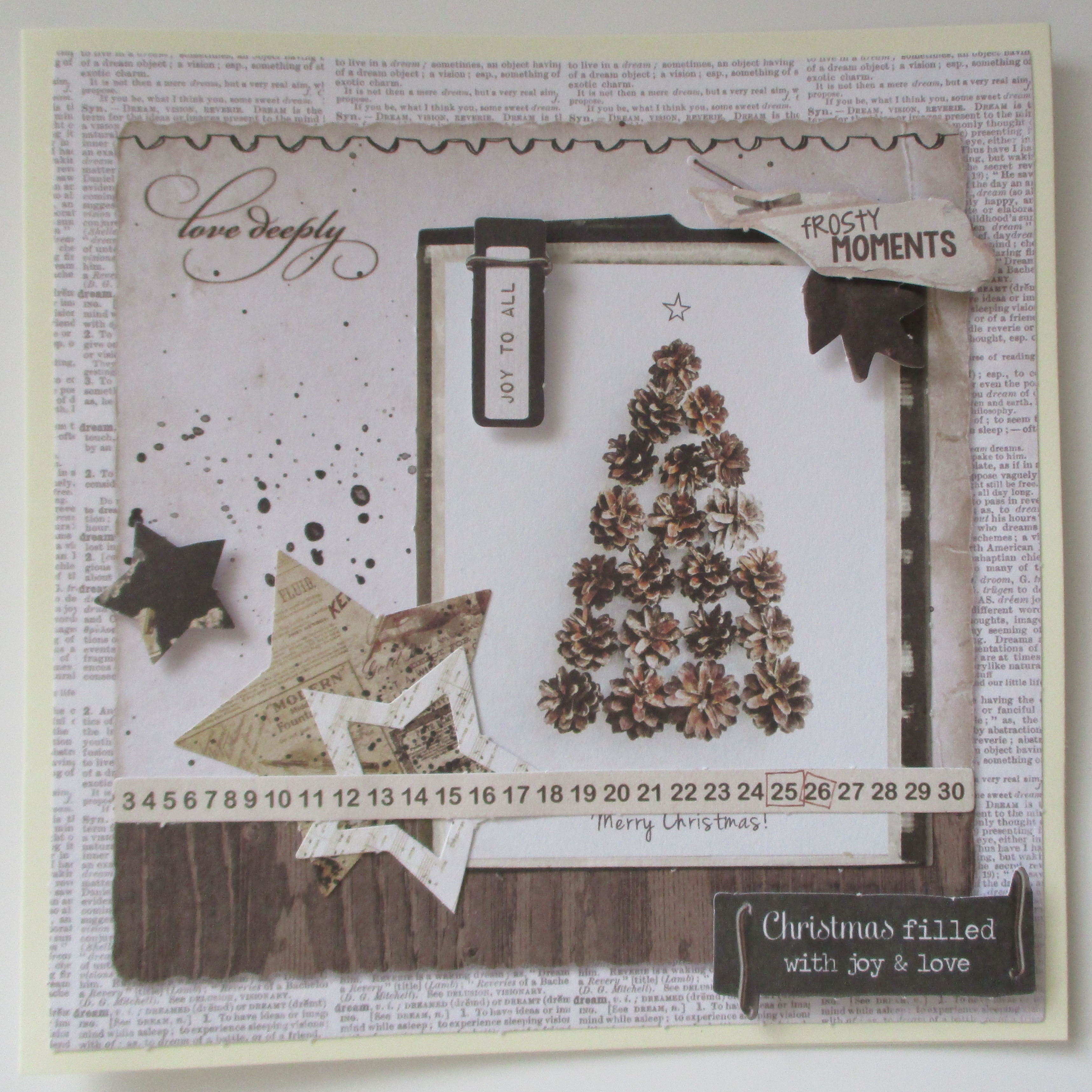 Meine Bastel Idee - Grußkarte Christmas filled with joy and love