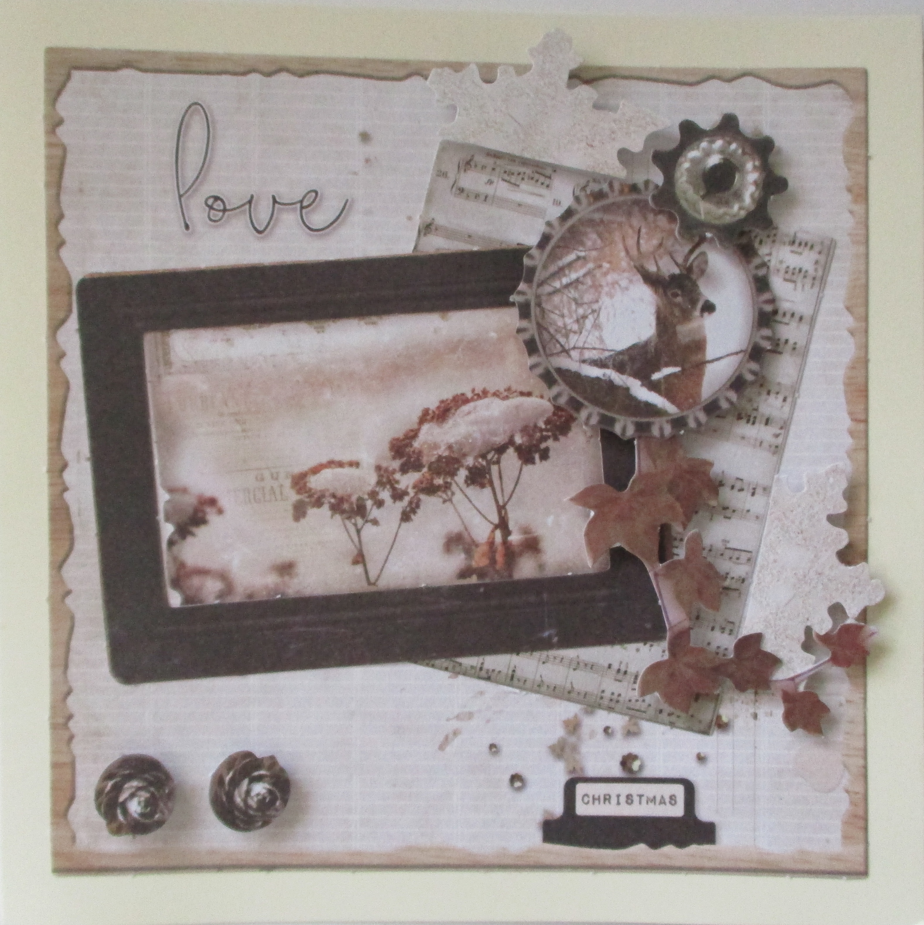 Meine Bastel Idee - Grußkarte Christmas Love