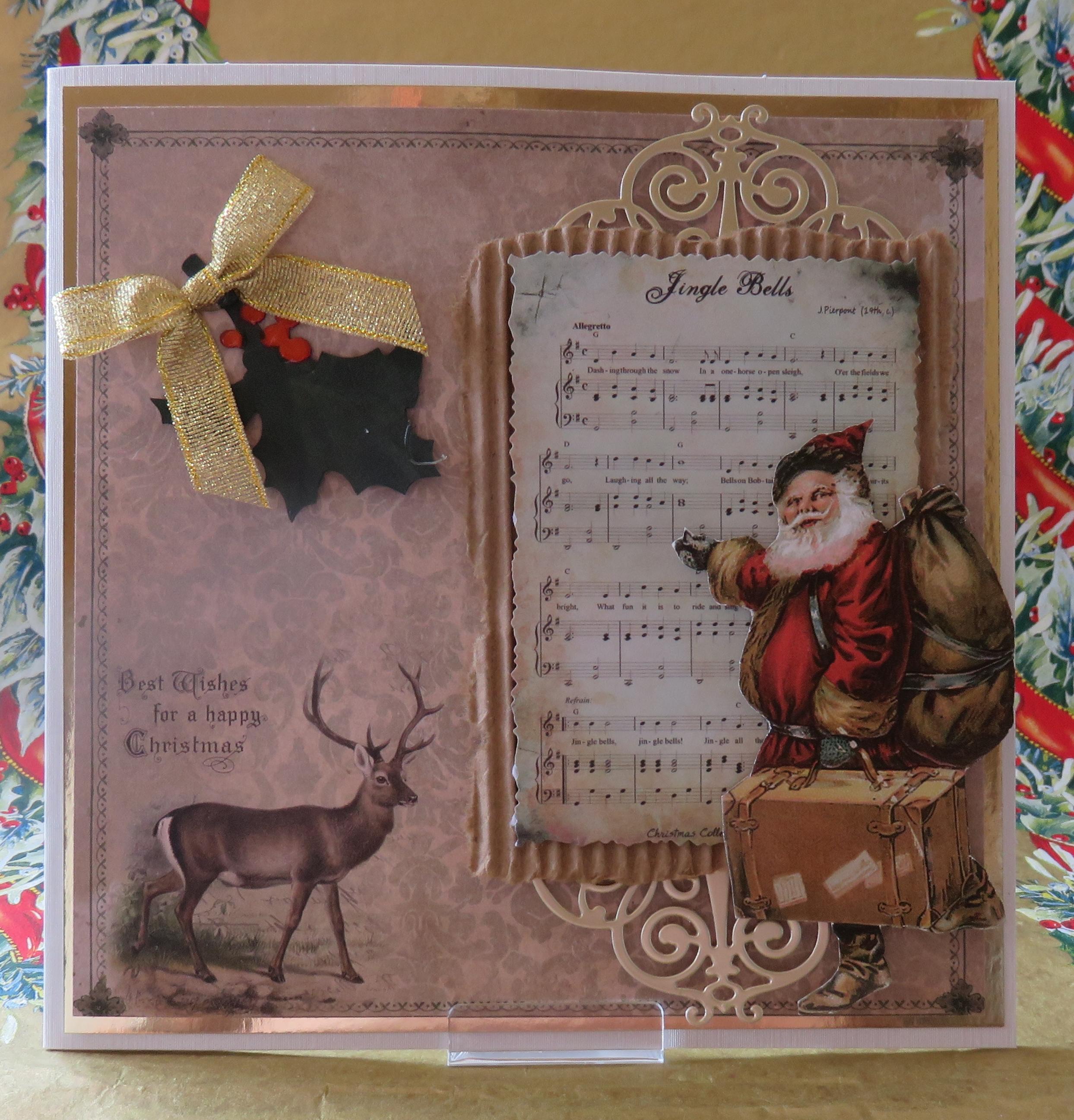 Bilder Weihnachten Nostalgisch.Grußkarte Weihnachten Nostalgisch Jingle Bells