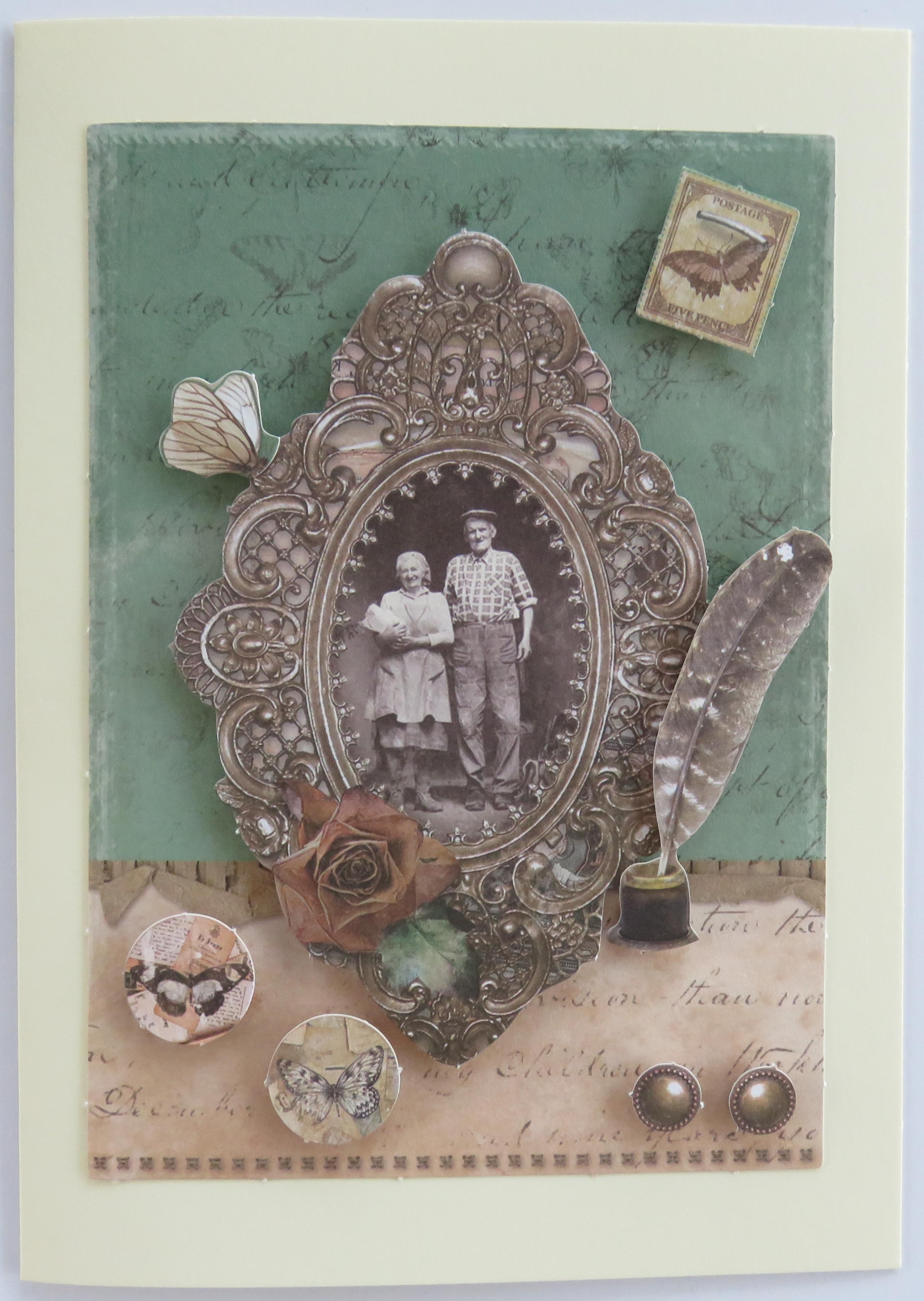 Grußkarte Goldene Hochzeit Incl Umschlag