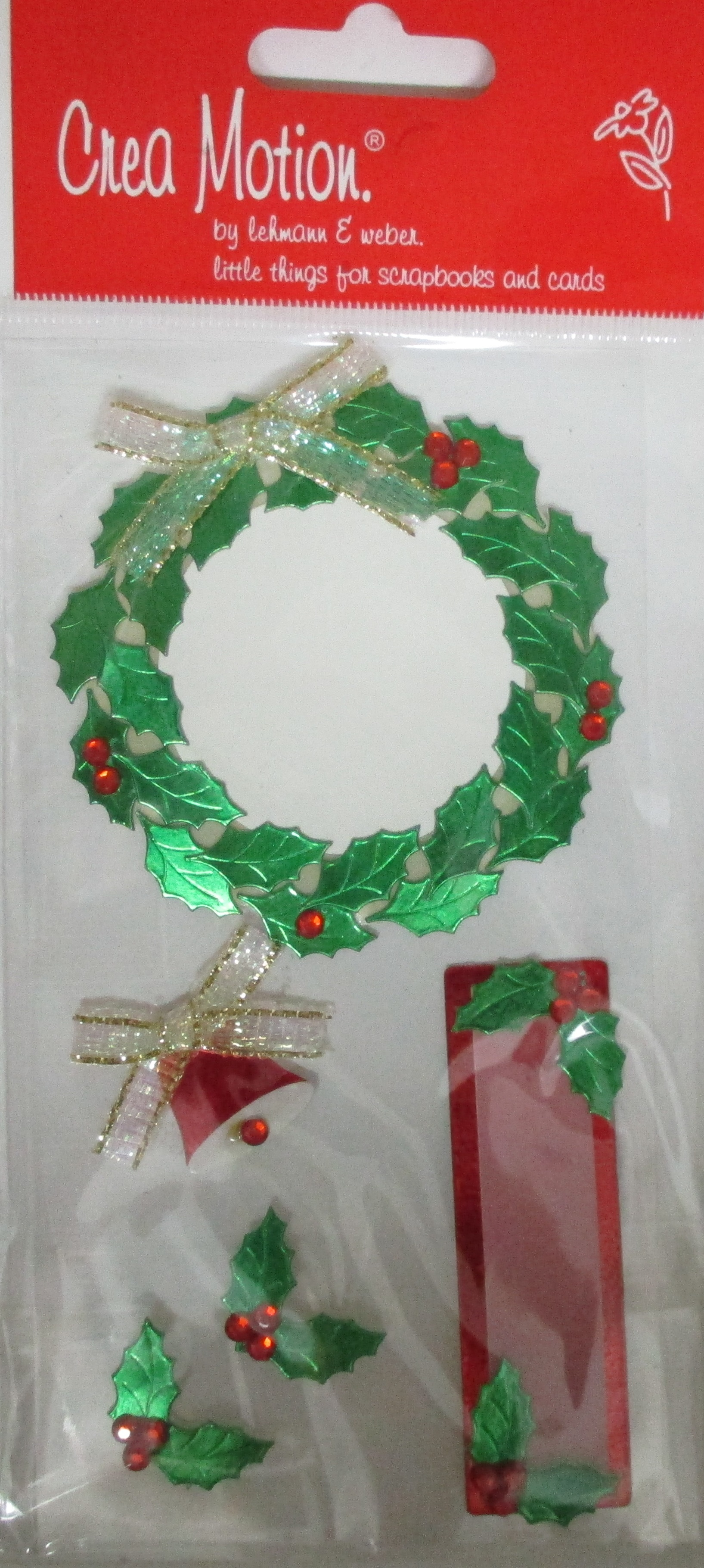 Meine Bastel Idee - Embellishment Weihnachten Kranz 2
