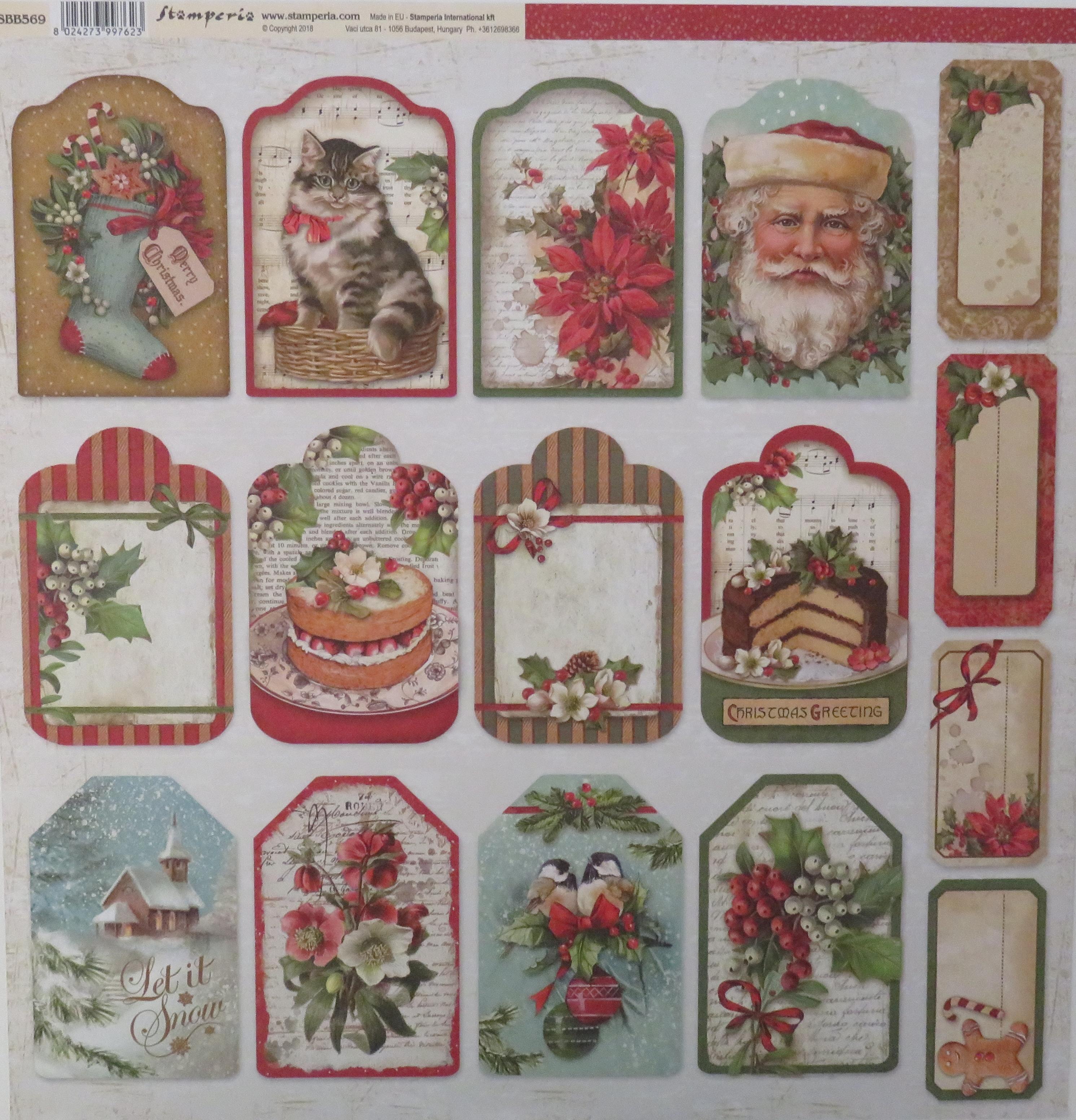 Meine Bastel Idee - Doppelseitiger Scrapbook Bogen Christmas Vintage ...