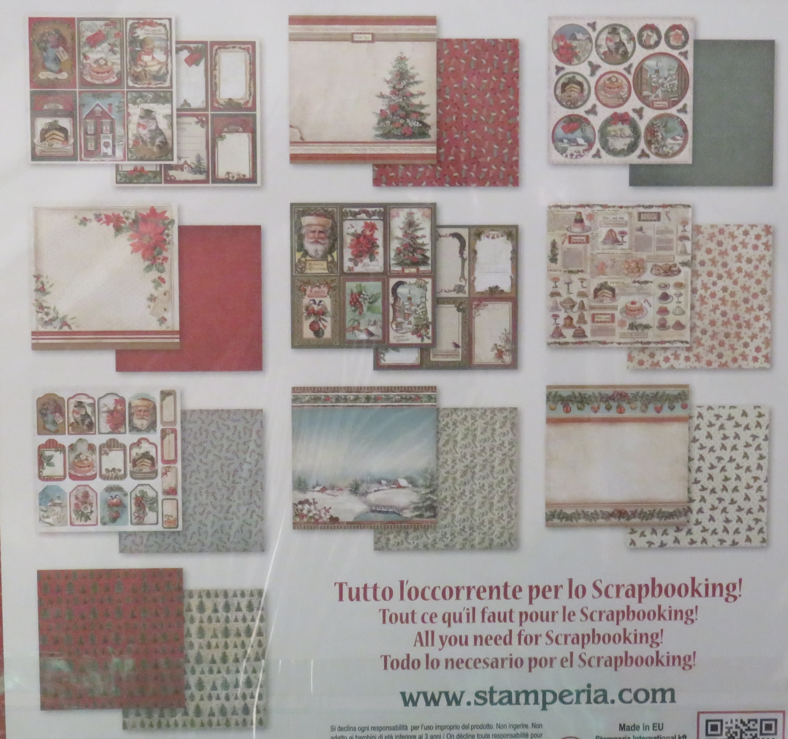 Meine Bastel Idee - Doppelseitige Scrapbook Bögen Christmas Vintage ...