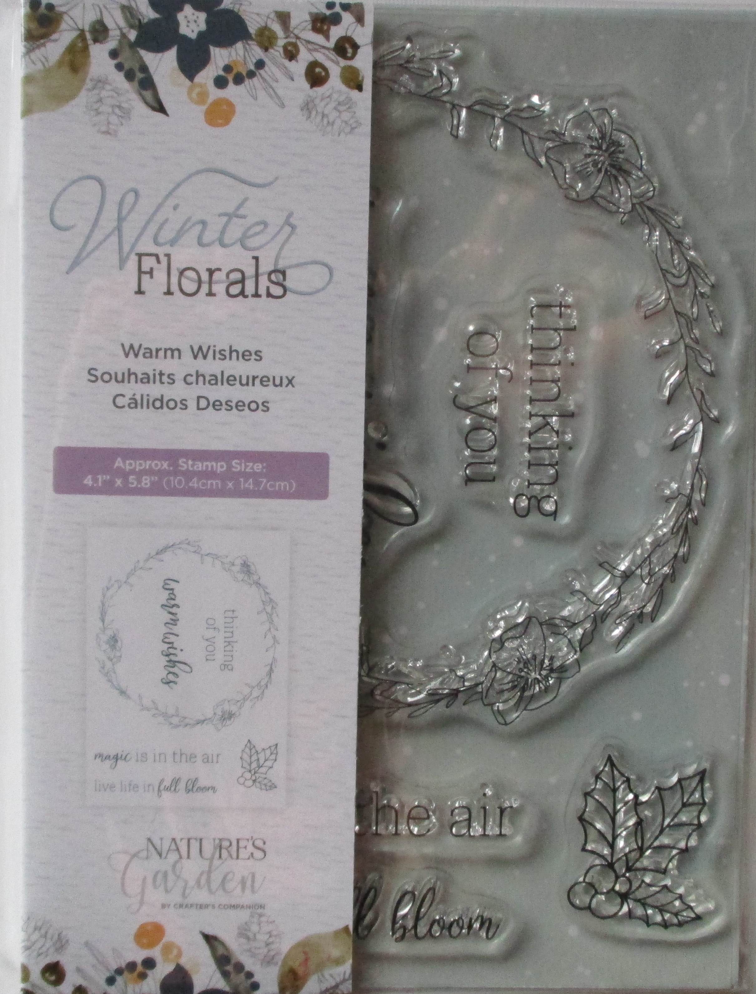 Stempelset Winter Florals, Warm Wishes, Crafters Companion