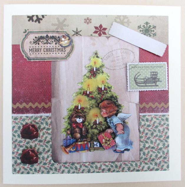 Meine Bastel Idee - Grußkarte Weihnachten Traditional Christmas 5