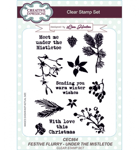 Stempel Festive Flurry - Under the Mistletoe, Creative Expressions