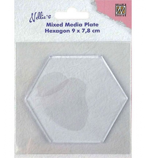 Gelli Printing Plates Hexagon, Hexagon-shape, Mixed Media, Nellies Choice