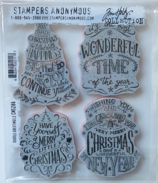 Tim Holtz Collection Stempelset Doodle Greetings 2 , Stampers Anonymus