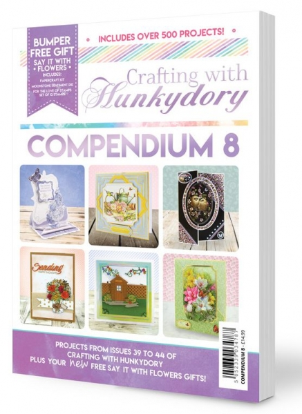 Crafting with Hunkydory - Compendium 8, incl. Stanzschablone und Stempel, Hunkydory