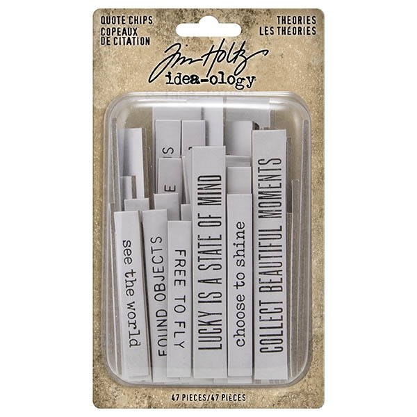 Idea-ology Tim Holtz Theories Quote Chips