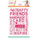 "Sara Signature Crafty Fun 5"" x 7"" Embossing Folder - Crafty Friends, Crafters Companion"